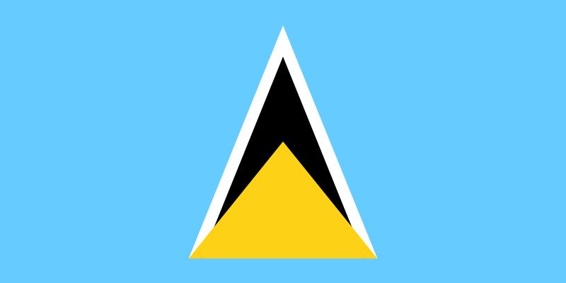 Флаг Сент-Люсия