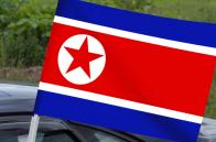 Флаг Северной Кореи на машину