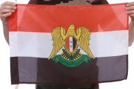 Флаг Сирии с гербом 40x60 см