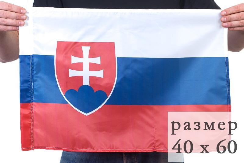 Флаг Словакии по акции
