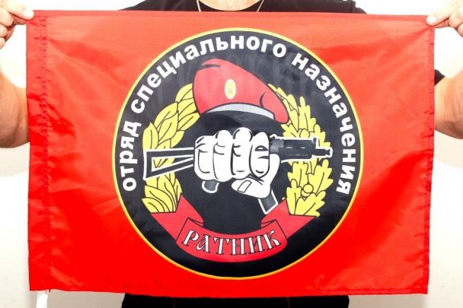 "Флаг Спецназа ВВ ""28 ОСН Ратник"" 40х60 см"