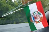 Флаг Таджикистан с гербом на присоске