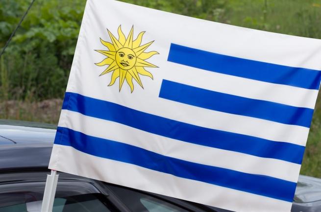Флаг Уругвая на машину