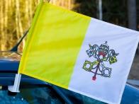Флаг Ватикана на машину с кронштейном