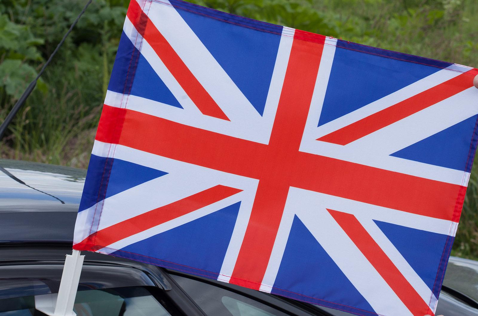 Флаг Великобритании на машину