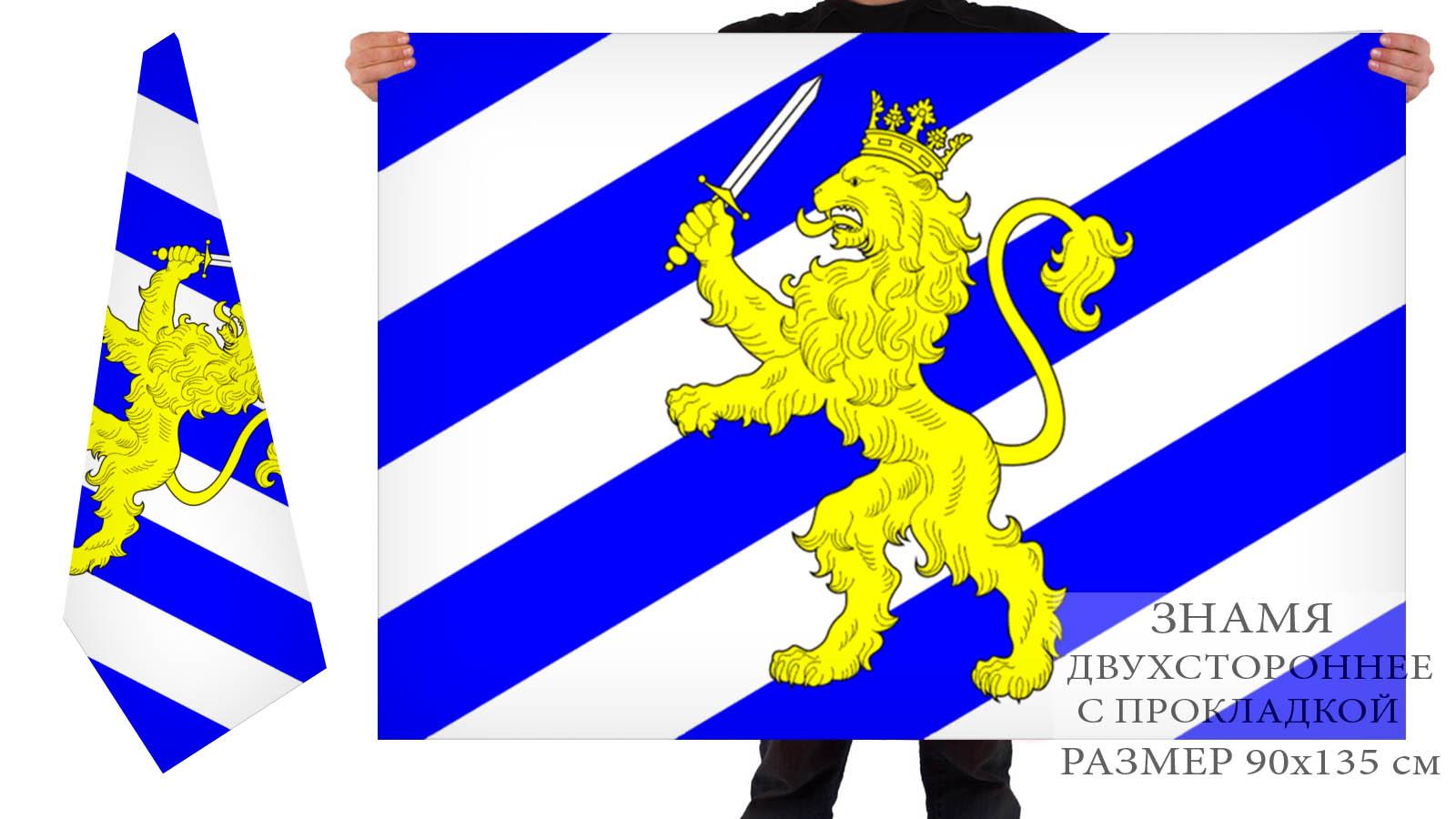 Двусторонний флаг внутригородского муниципального образования МО Большая Охта