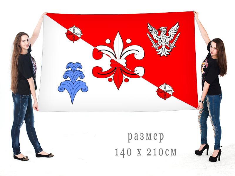 Большой флаг внутригородского муниципального образования муниципальный округ Полюстрово