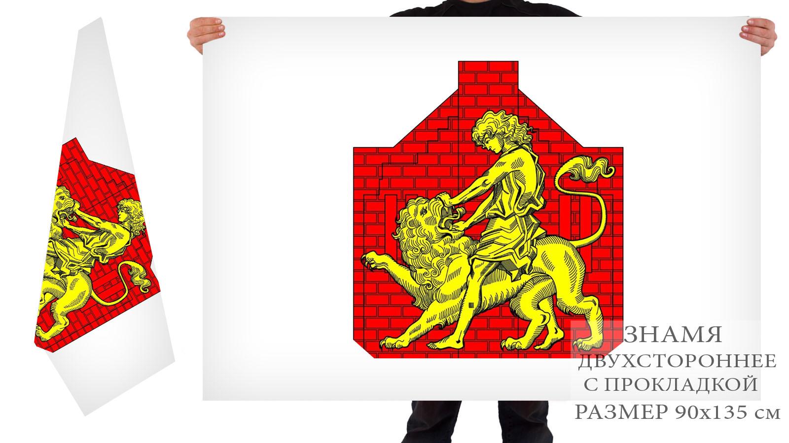 Двусторонний флаг внутригородского муниципального образования муниципальный округ Сампсониевское