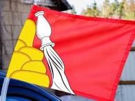 Флаг Воронежской области на авто
