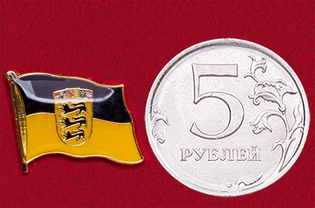 Значок флаг земли Баден-Вюртемберг (Германия)