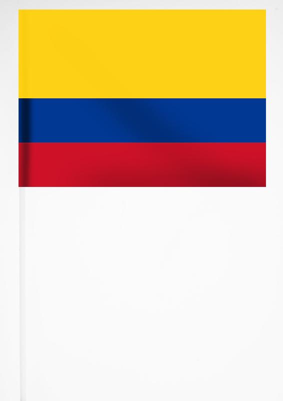Флажок Колумбии 15х23 см