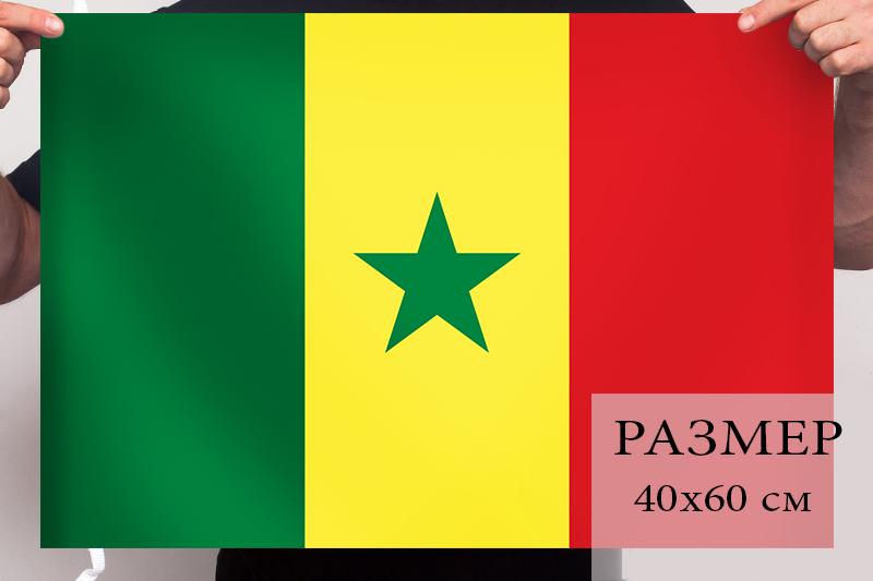 Флаг Сенегала 40х60 см