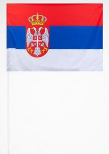 Флажок Сербии 15х23 см
