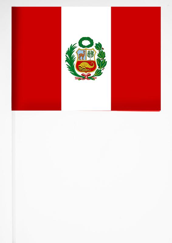 Флажок Перу 15х23 см