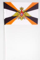 Флажок на палочке «Флаг Войск связи с эмблемой»