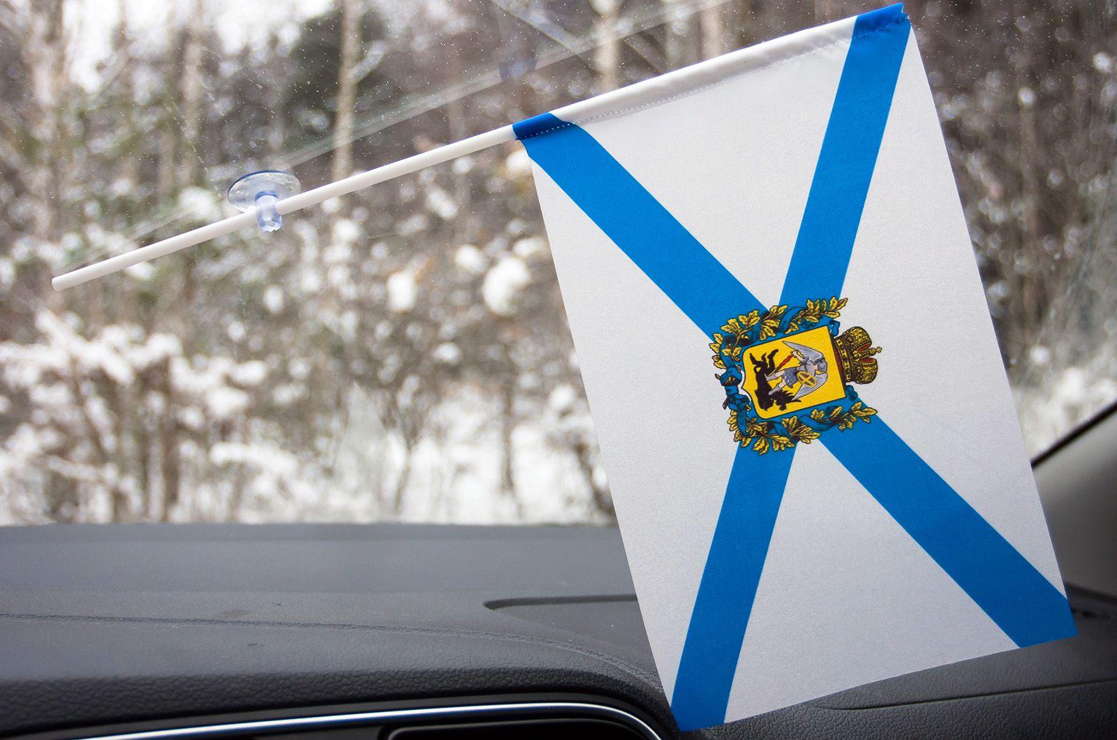 Флажок Архангельской области в машину