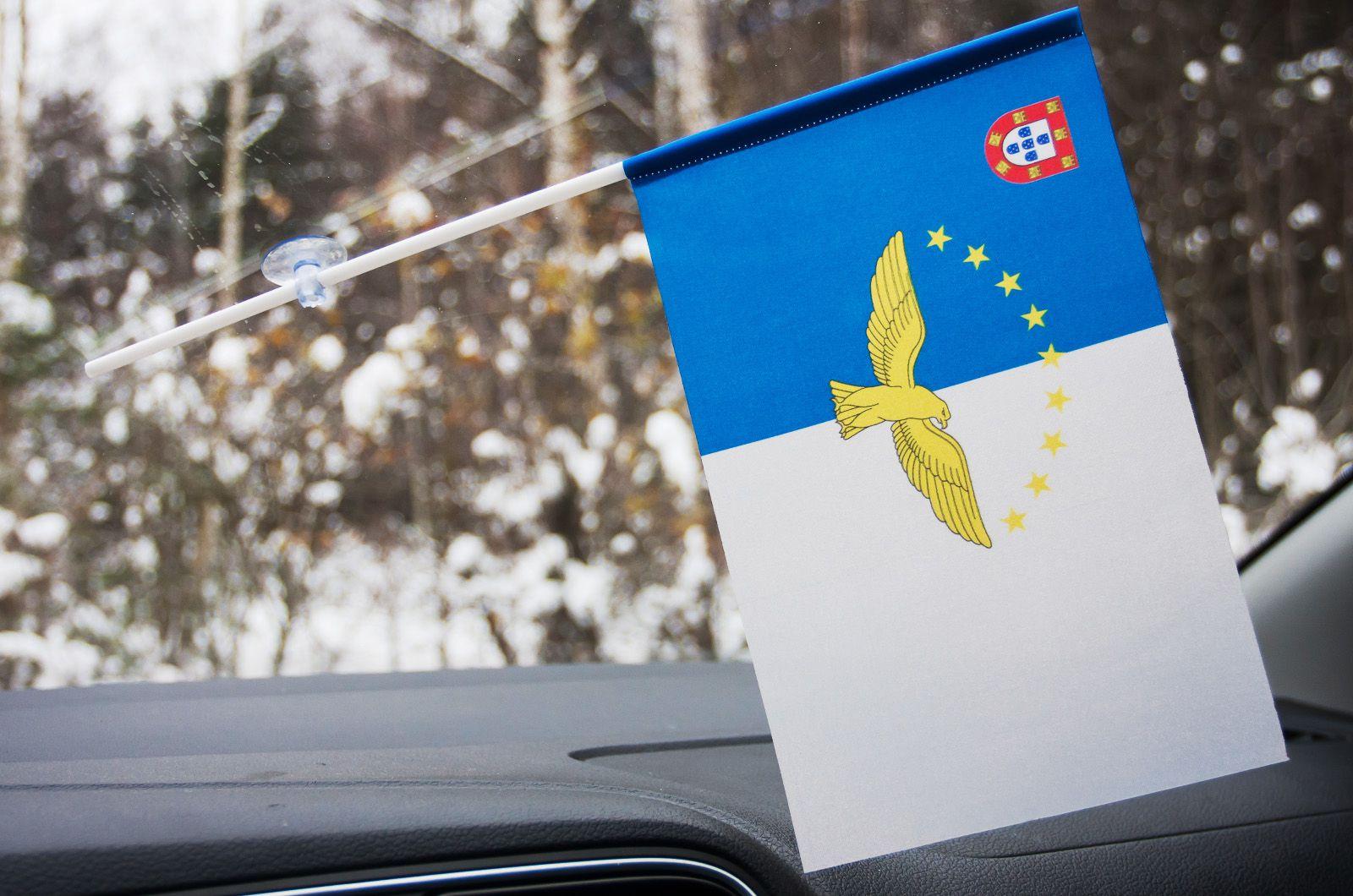 Флажок Азорских островов в машину