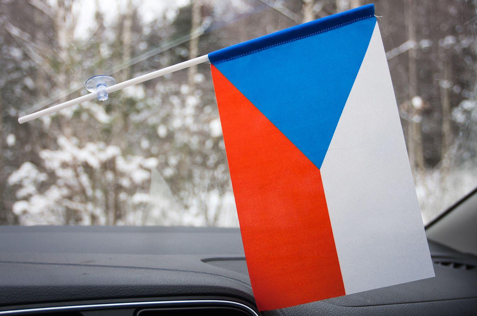 Флажок Чехии в машину с присоской