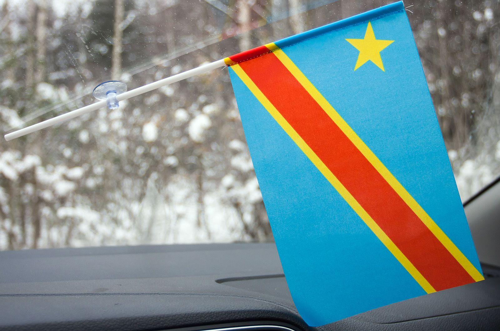 Флажок Демократической республики Конго в машину