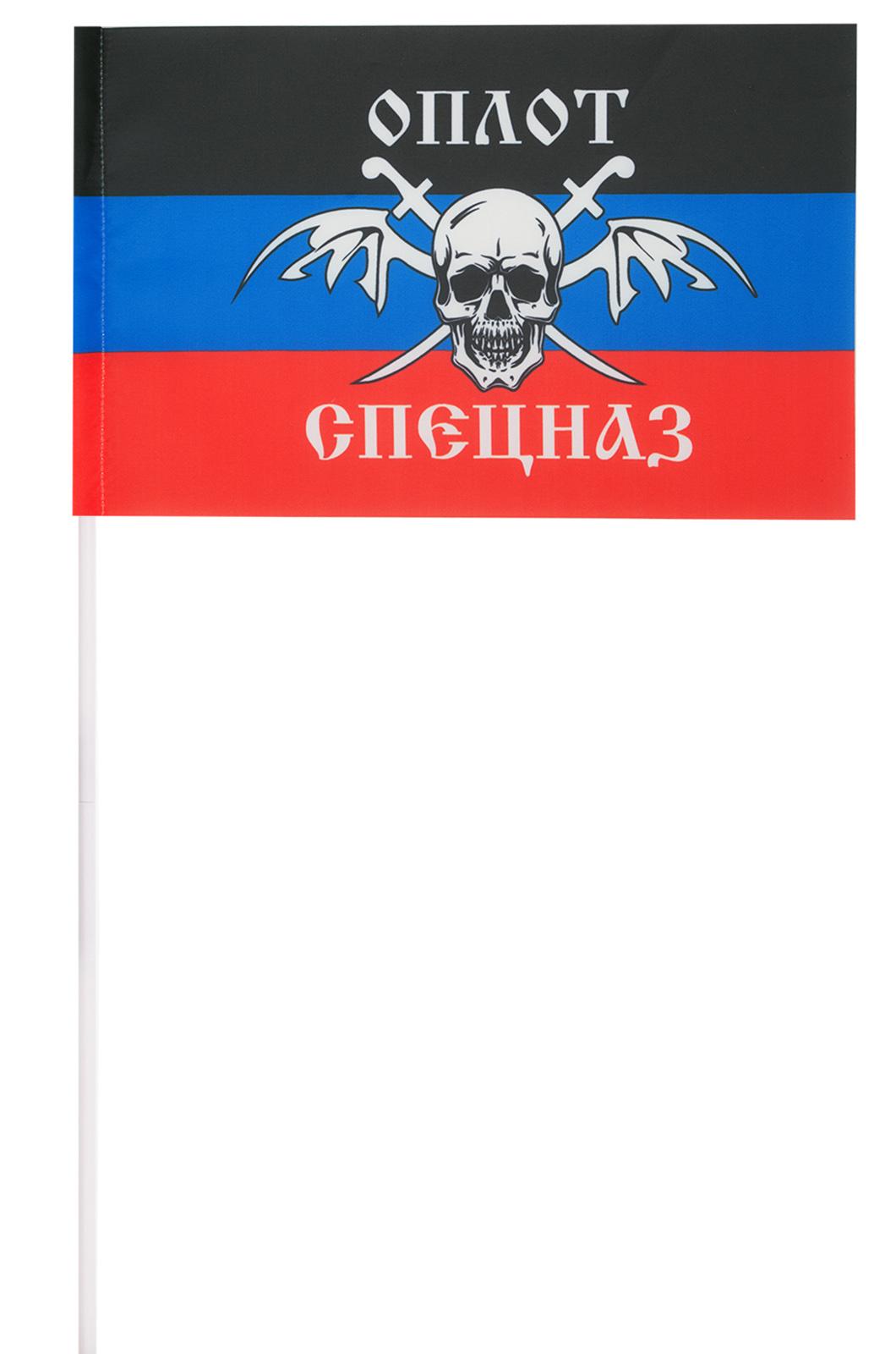 """Флажок ДНР с эмблемой спецназа """"Оплот"""""""