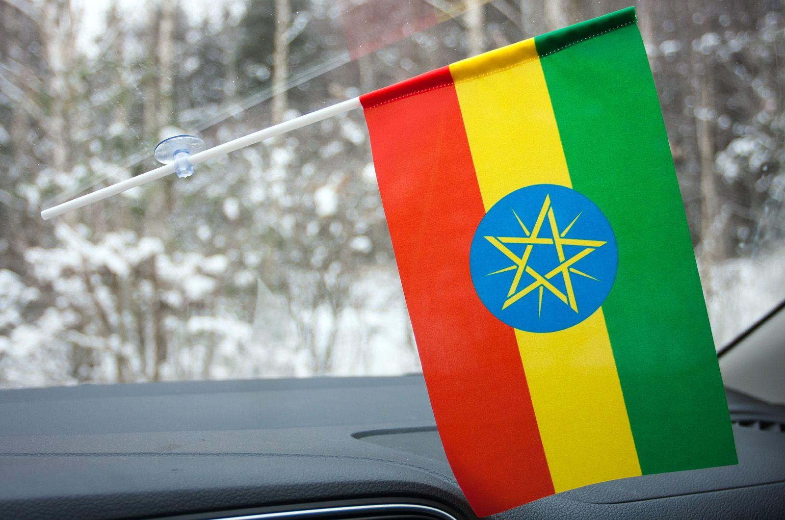 Флажок Эфиопии в машину