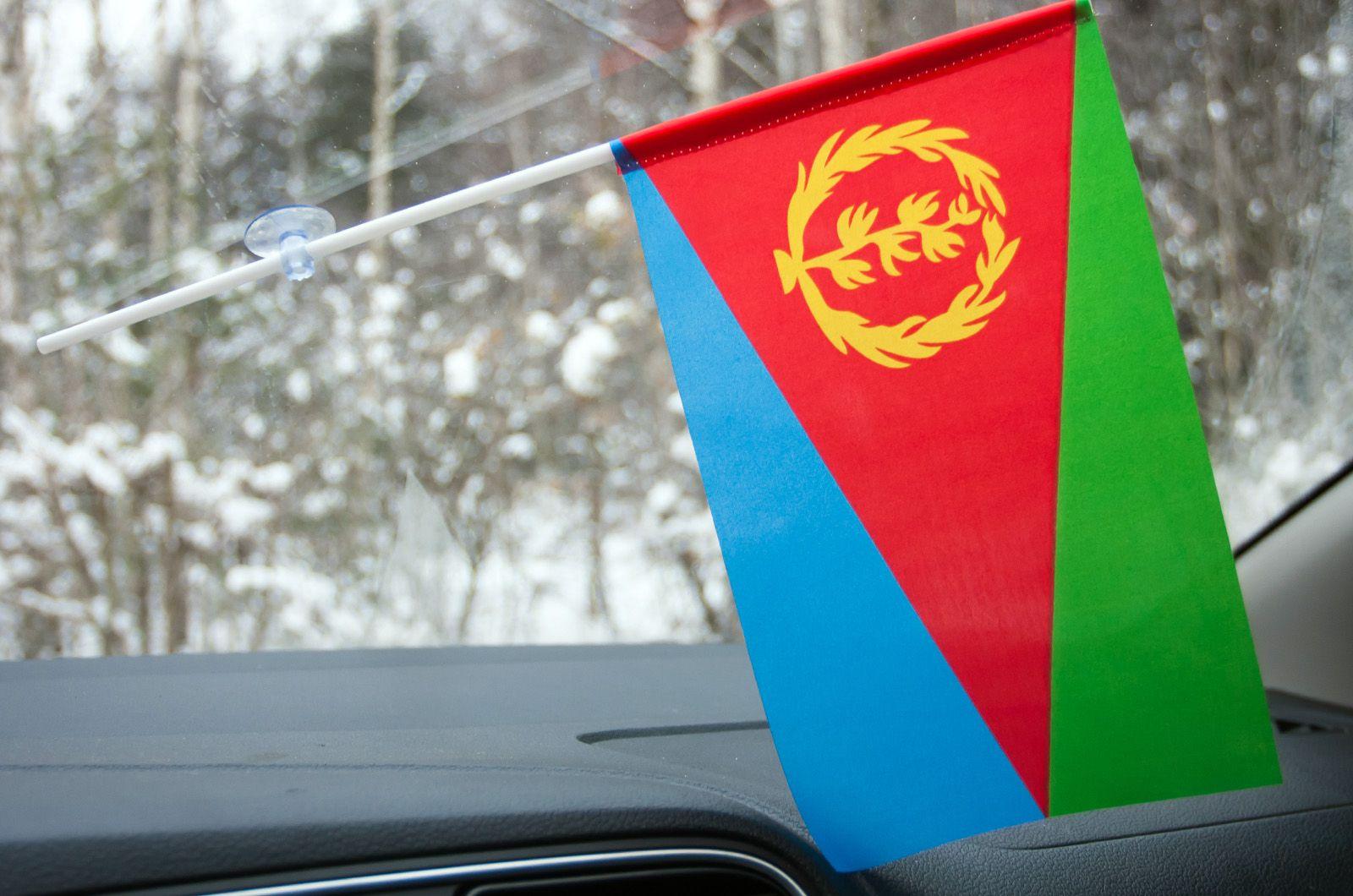 Флажок Эритреи в машину