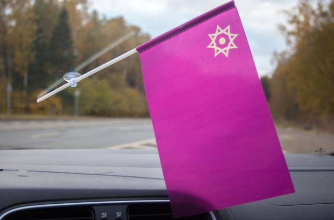 Флажок Евразийского союза в машину