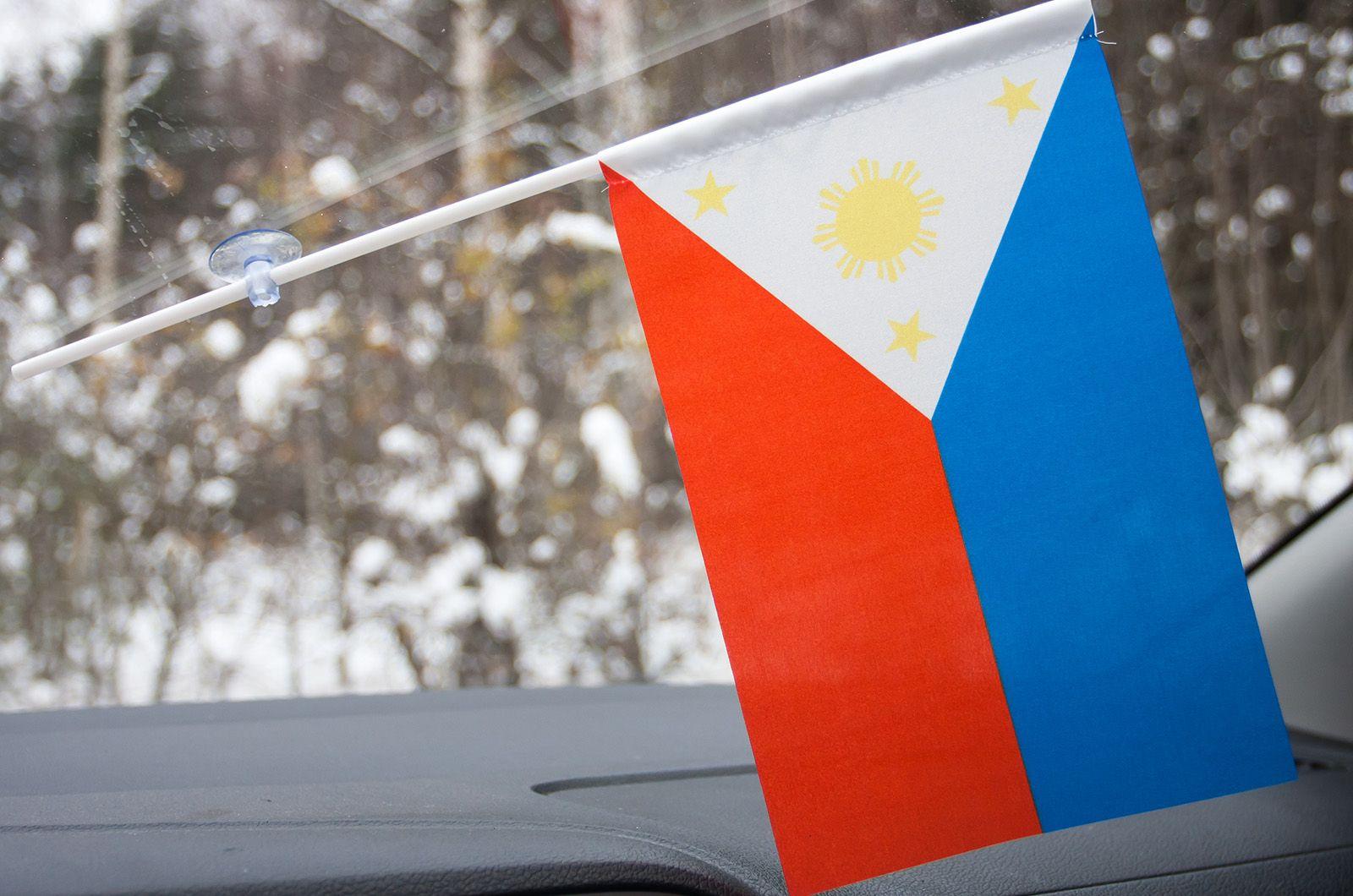 Флажок Филиппин в машину