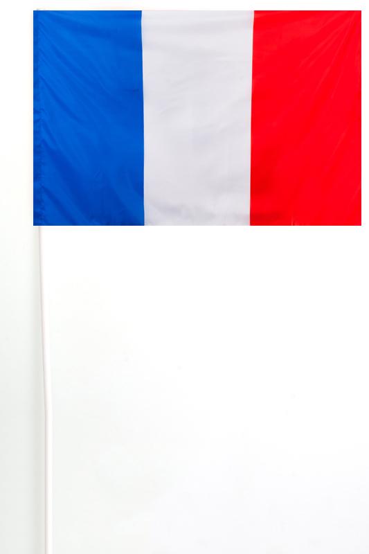 Флажок Франции на палочке