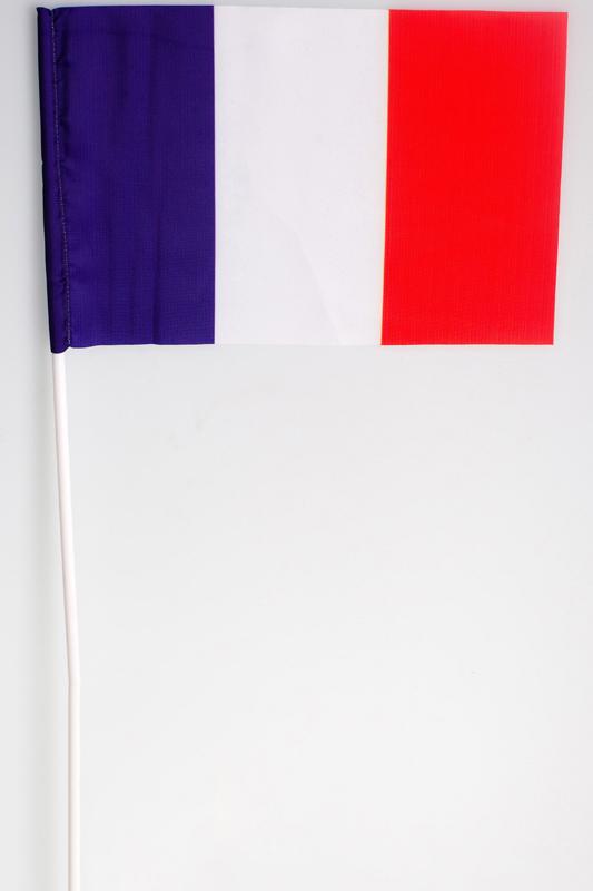 Флажок Франции на палочке по акции