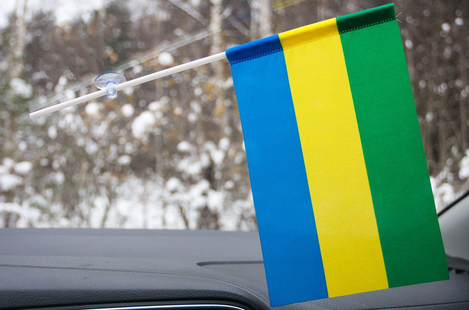 Флажок Габона в машину