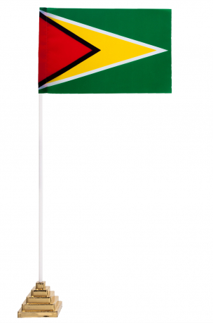 Флажок Гайаны настольный с подставкой