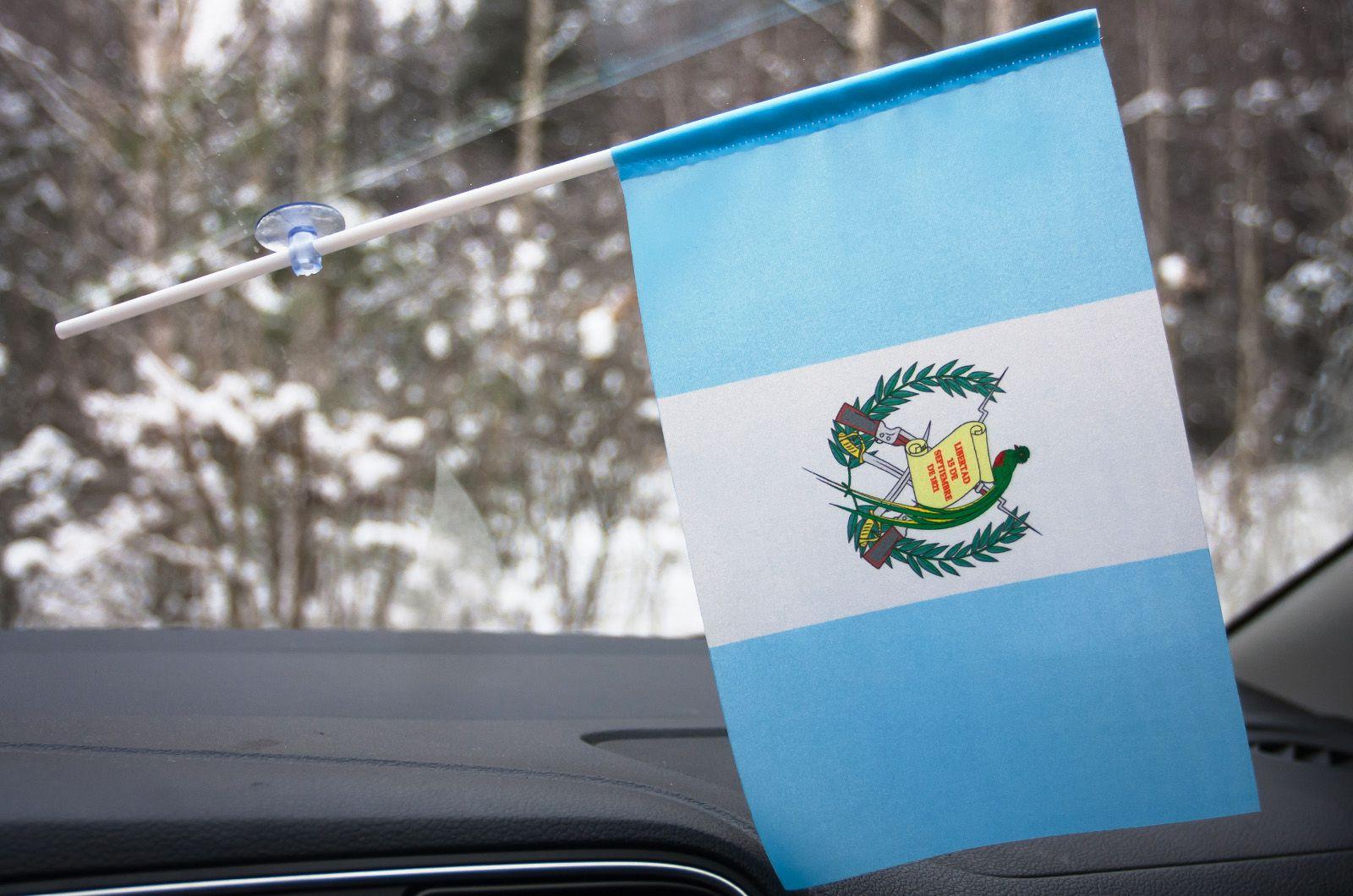 Флажок Гватемалы в машину