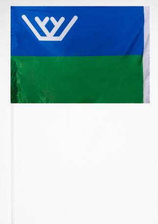 Флажок Ханты-Мансийского АО на палочке