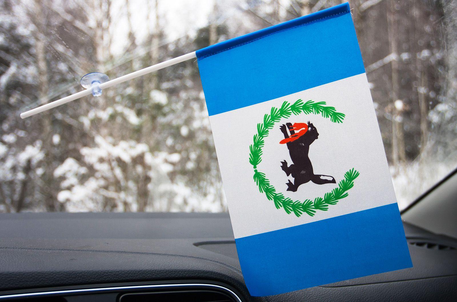 Флажок Иркутской области в машину