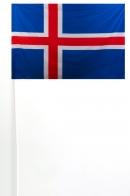 Флажок Исландии на палочке