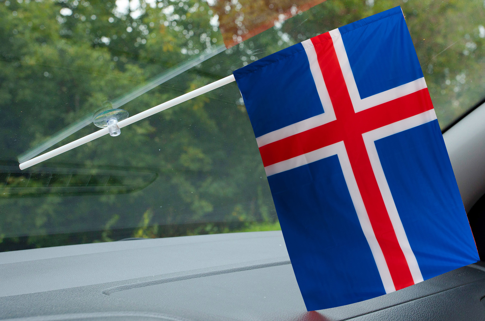 Флажок Исландии в машину
