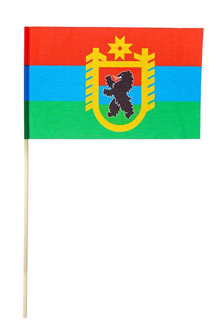 Флажок Карелии с гербом