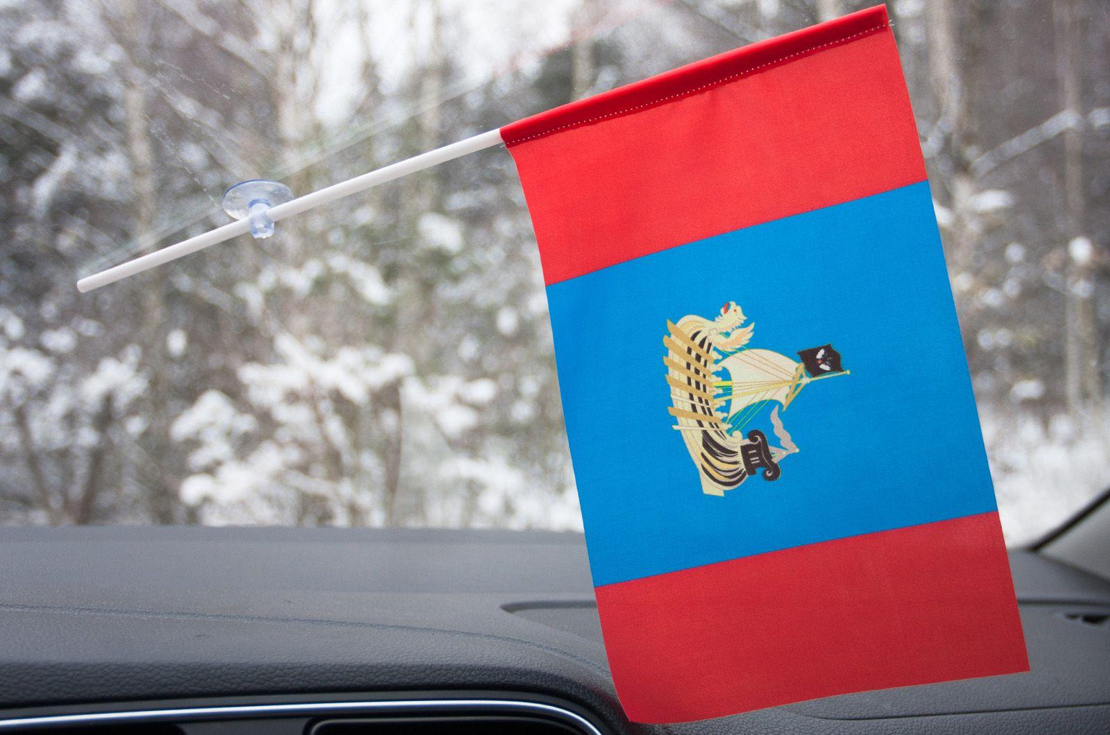 Флажок Костромской области в машину