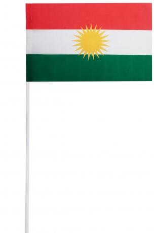 Флажок Курдистана на палочке