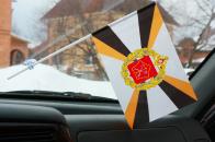 Флажок Ленинградского ВО ВС в машину