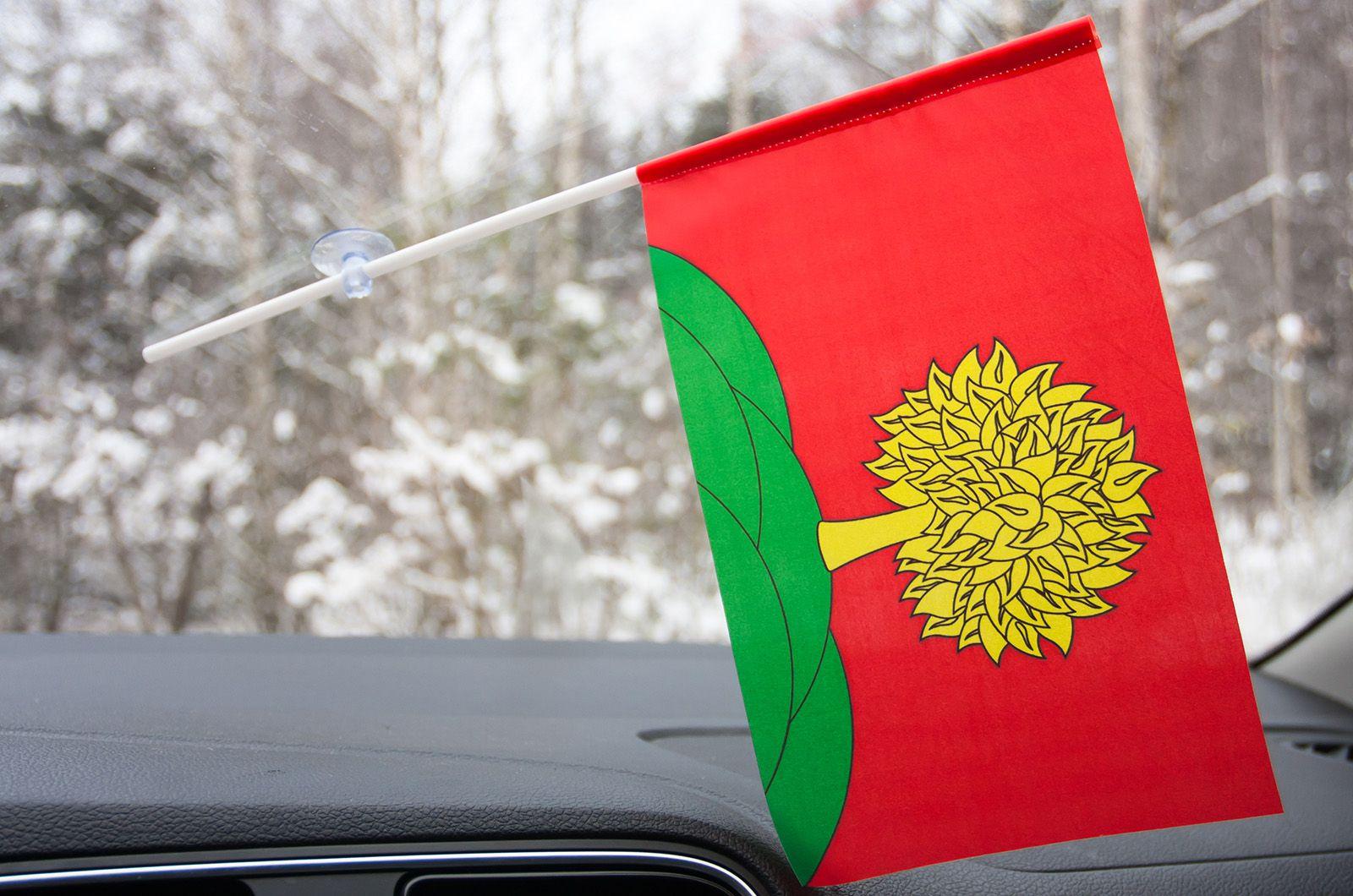Флажок Липецкой области в машину