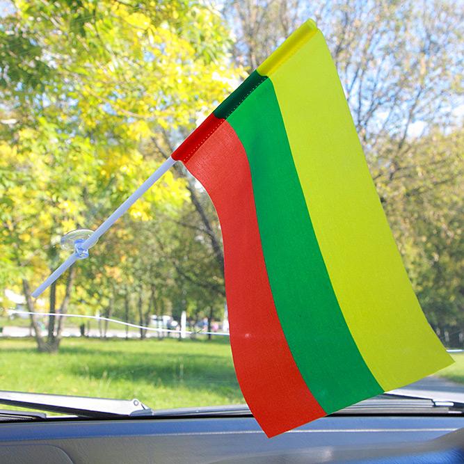 Флажок Литвы в машину
