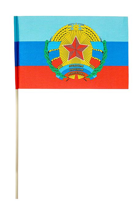 Флажок ЛНР с гербом