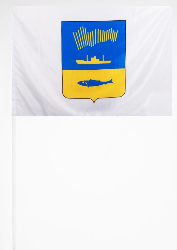 Флажок Мурманска на палочке