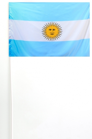Флажок Аргентины на палочке