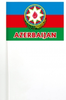Флажок Азербайджана с гербом