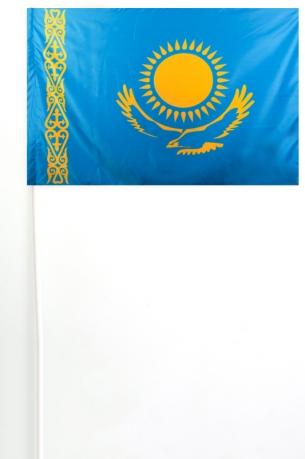 Флажок Казахстана на палочке
