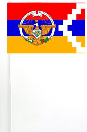 Флажок на палочке Республики Арцах с гербом