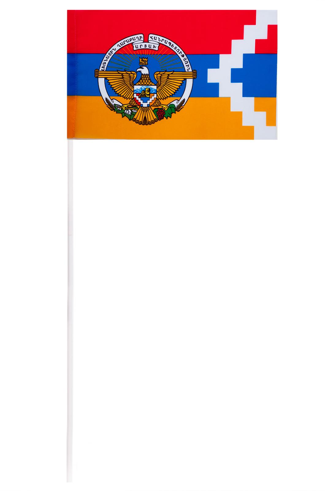 Флажок Нагорно-Карабахской республики на палочке